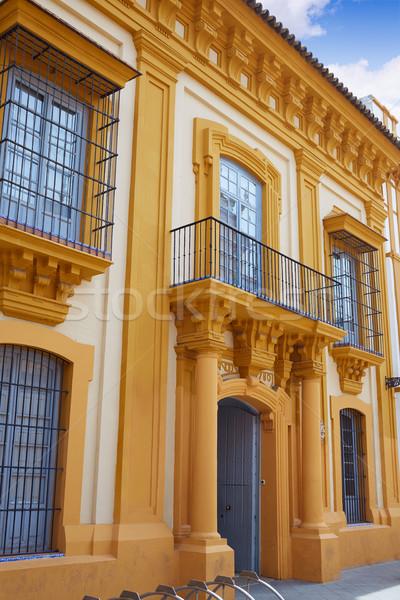 Spanyolország épület város fal utazás építészet Stock fotó © lunamarina