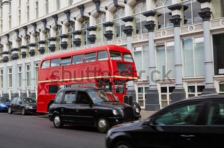 Londra otobüs taksi sokak westminster Bina Stok fotoğraf © lunamarina