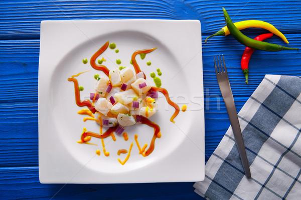 Recept modern gasztronómia stílus molekuláris konyha Stock fotó © lunamarina