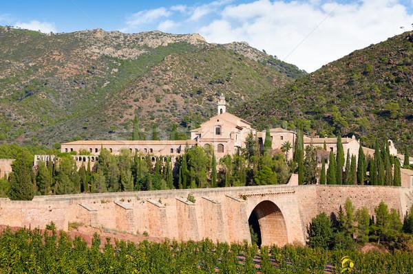 Monasterio Valencia España paisaje árboles montana Foto stock © lunamarina