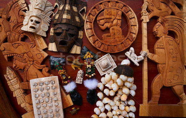 Mayan mexican handcrafts souvenirs mix Stock photo © lunamarina