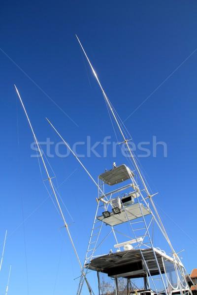 Rybak łodzi wysoki latać most tuńczyka Zdjęcia stock © lunamarina