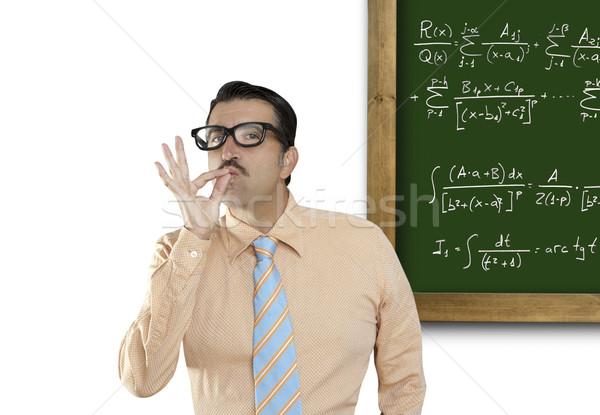 Matematiksel formül dahi inek öğrenci geek kolay Stok fotoğraf © lunamarina
