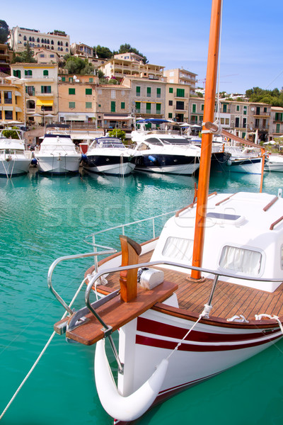 Stock photo: Puerto de Soller Port of Mallorca with lllaut boats