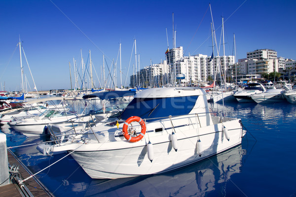 Ibiza San antonio Abad marina port in blue Stock photo © lunamarina