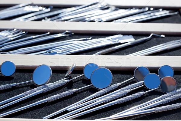 Stock fotó: Fogorvos · kicsi · szerszámok · rozsdamentes · acél · fény · fém