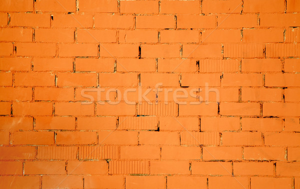 brickwall pattern texture in orange color Stock photo © lunamarina