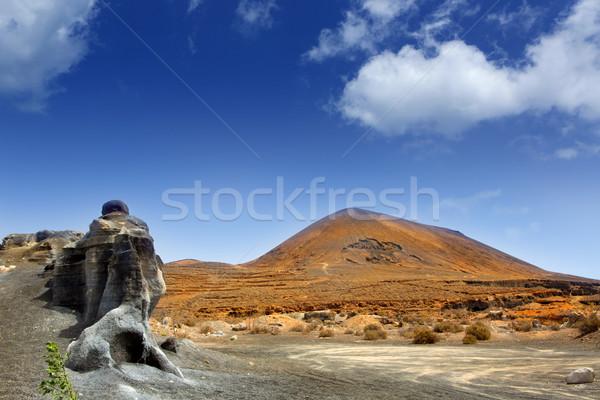 Guatiza teguis stones volcanic Lanzarote Stock photo © lunamarina