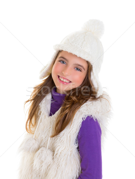 Yeux bleus heureux enfant Kid fille blanche Photo stock © lunamarina