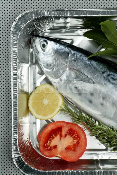 Küçük ton balığı gümüş renk yanlış akdeniz Stok fotoğraf © lunamarina