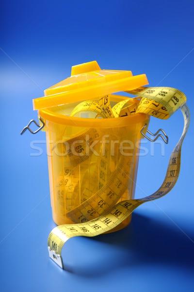 сантиметр лента мусор конец диета ухода Сток-фото © lunamarina