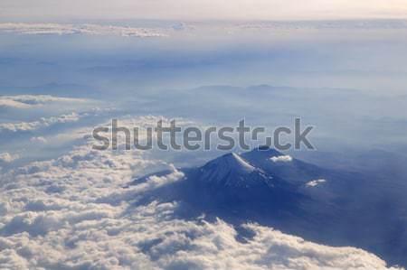 вулкан самолет Мехико облака пейзаж Сток-фото © lunamarina