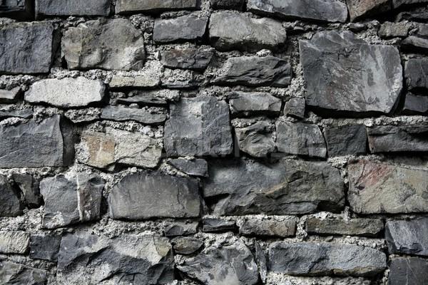Antigo grunge velho cinza stonewall alvenaria Foto stock © lunamarina