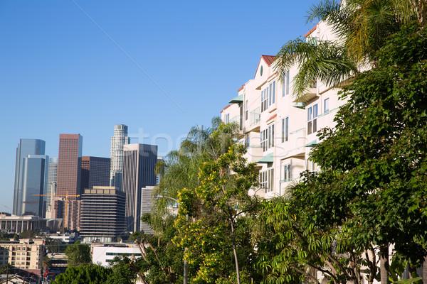 Centro da cidade la Los Angeles linha do horizonte Califórnia cityscape Foto stock © lunamarina