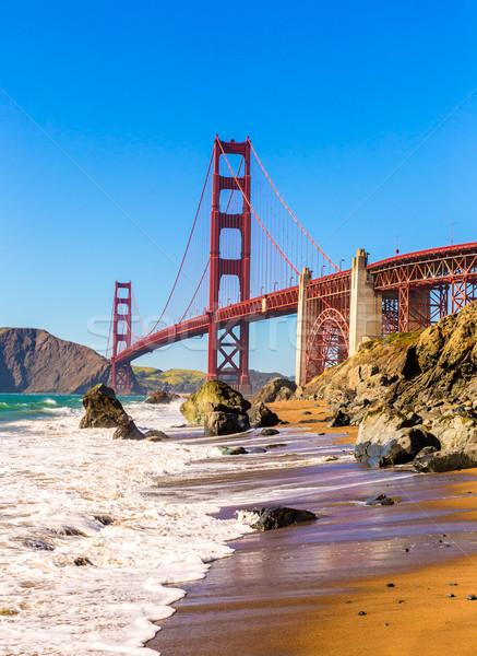 San Francisco Golden Gate Bridge praia Califórnia EUA céu Foto stock © lunamarina