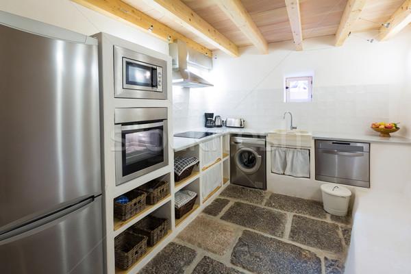 дома Средиземное море стиль кухне Сток-фото © lunamarina