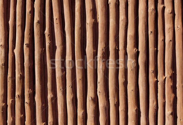 Mediterranean wooden trunks wall texture Stock photo © lunamarina