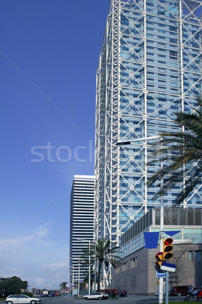 Barcelone villa bâtiments gratte-ciel Espagne bureau Photo stock © lunamarina