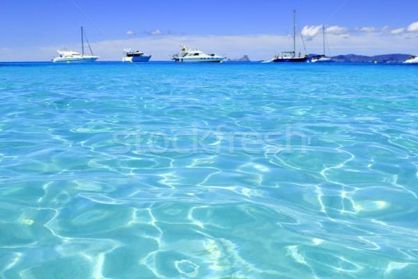 Illetes turquoise beach blue water Formentera Stock photo © lunamarina