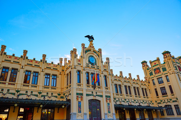 Stock photo: Valencia railway station facade North Estacio