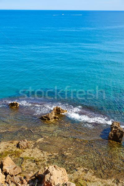 Praia água natureza paisagem luz mar Foto stock © lunamarina