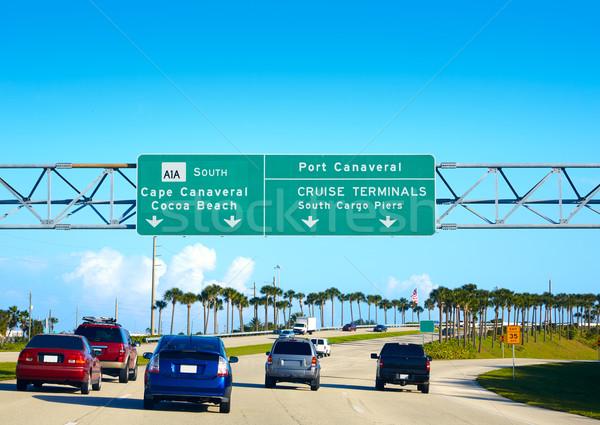 Playa signo Florida senalización de la carretera Orlando EUA Foto stock © lunamarina