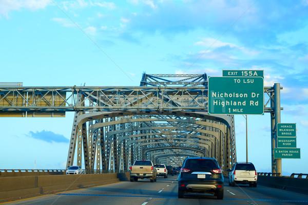 моста Миссисипи реке Луизиана США пейзаж Сток-фото © lunamarina