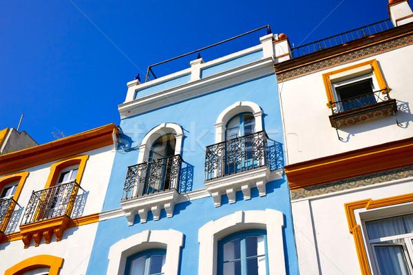 スペイン 建物 市 壁 旅行 アーキテクチャ ストックフォト © lunamarina
