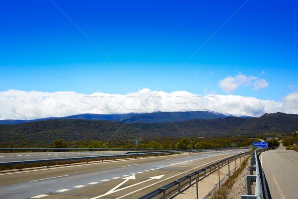 ラ 道路 スペイン 自然 フィールド 青 ストックフォト © lunamarina