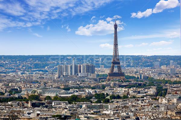 パリ スカイライン モンマルトル フランス 空 ストックフォト © lunamarina