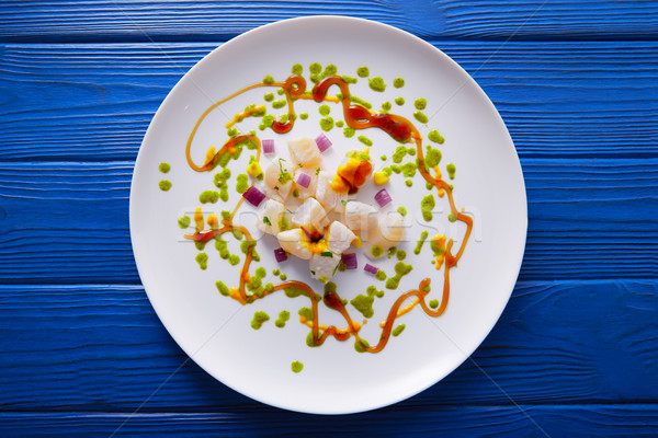 Ceviche recipe modern gastronomy style Stock photo © lunamarina