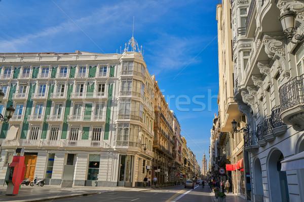 LA utca Valencia Spanyolország nyár kék Stock fotó © lunamarina