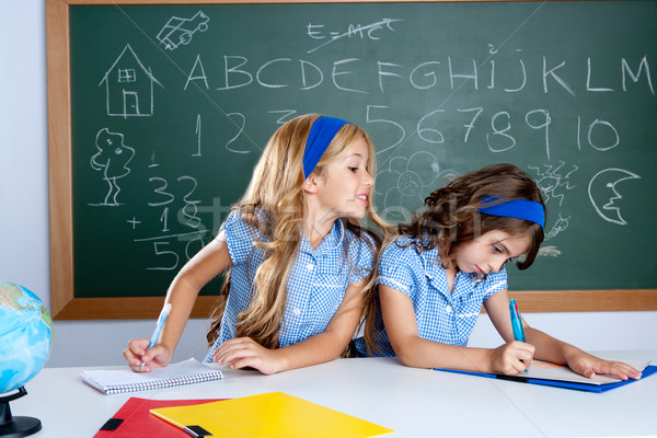Klasie dwa dzieci studentów test egzamin Zdjęcia stock © lunamarina