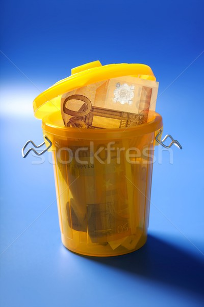 Fifty euro currency note on the trash Stock photo © lunamarina