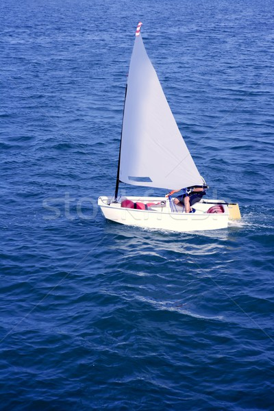 Optimist, recreation little sailboat regatta, Spain Stock photo © lunamarina