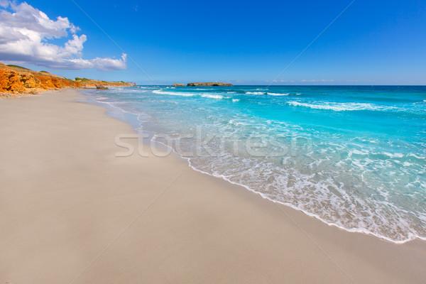 Menorca Platja de Binigaus beach Mediterranean paradise Stock photo © lunamarina