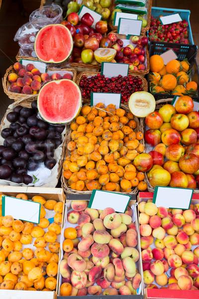Mediterranean summer fruits in Balearic Islands market Stock photo © lunamarina