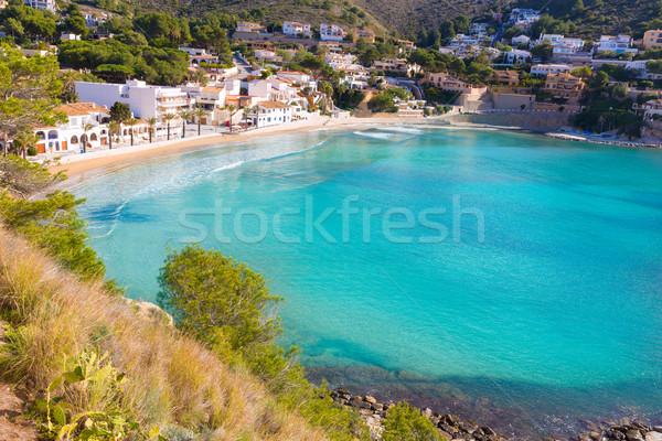 Moraira playa el Portet beach in Mediterranean Alicante Stock photo © lunamarina