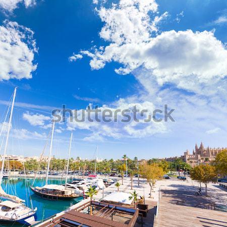 ストックフォト: マヨルカ島 · ポート · マリーナ · 島 · スペイン · 春