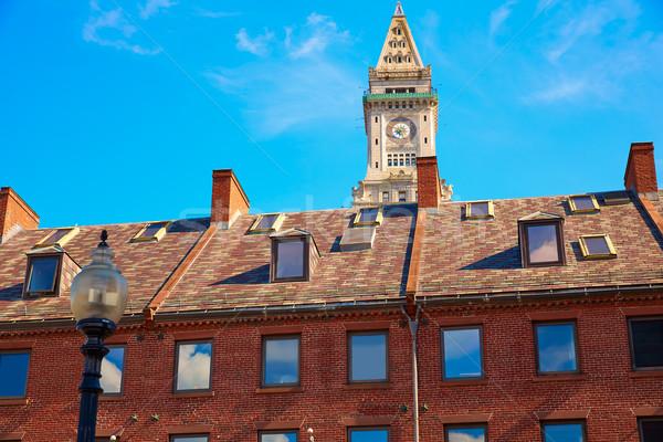 Boston saat kule ev Massachusetts Stok fotoğraf © lunamarina