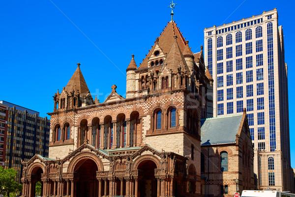 Бостон Церкви квадратный Массачусетс США бизнеса Сток-фото © lunamarina