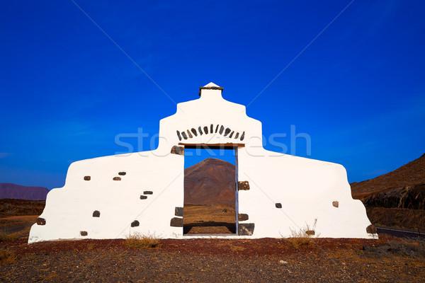 Fuerteventura island welcome monument sign Stock photo © lunamarina