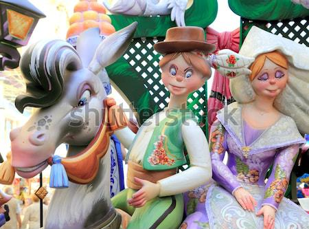 Fallas fest popular figures will burn in March 19 Stock photo © lunamarina