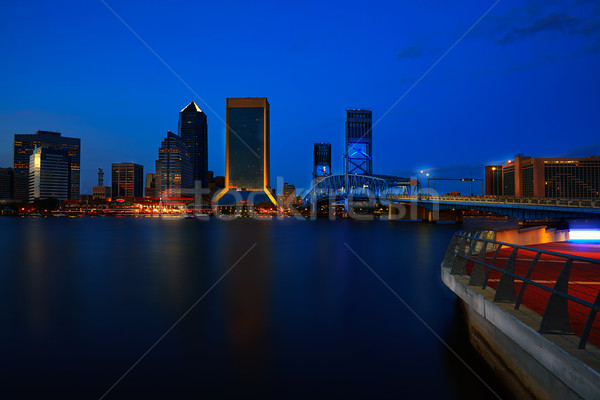 Skyline tramonto fiume Florida riflessione USA Foto d'archivio © lunamarina