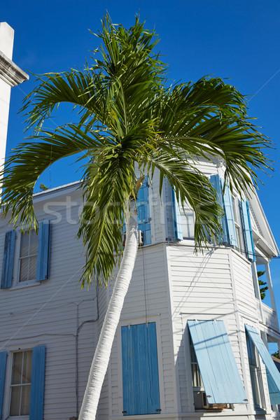 Clave oeste centro de la ciudad calle casas Florida Foto stock © lunamarina