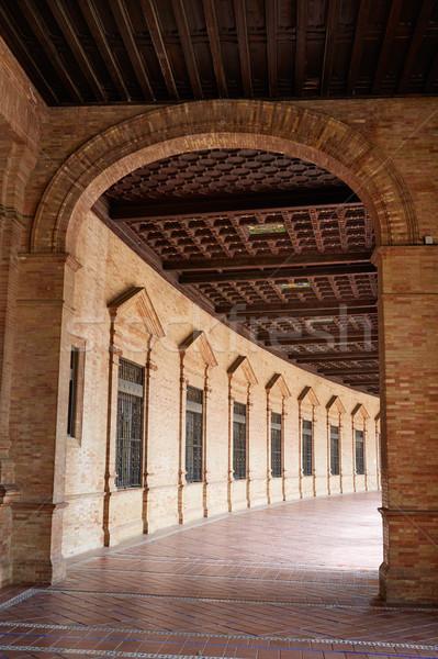 スペイン 広場 廊下 市 旅行 アーキテクチャ ストックフォト © lunamarina