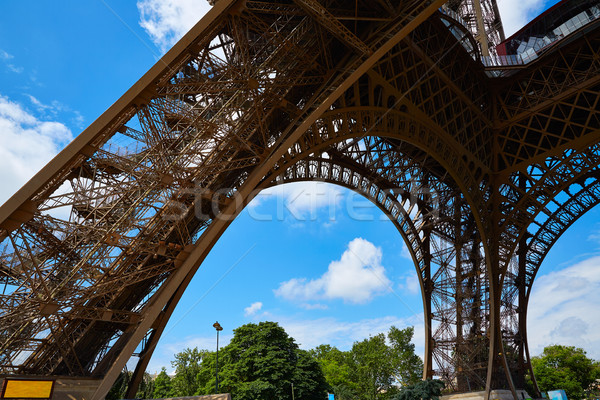 Stok fotoğraf: Eyfel · Kulesi · Paris · Fransa · gökyüzü · şehir · mavi