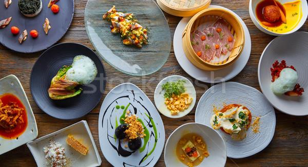 Moleküler gastronomi yemek tarifleri modern mutfak Stok fotoğraf © lunamarina