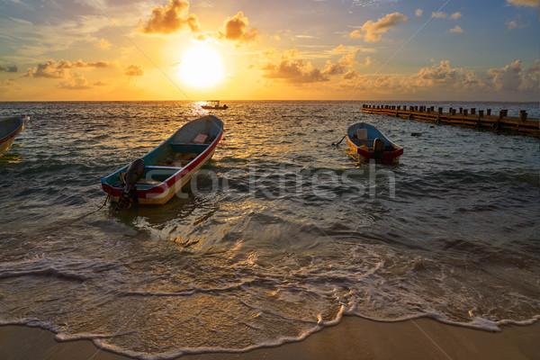 Riviera Maya sunrise in Caribbean Mexico Stock photo © lunamarina