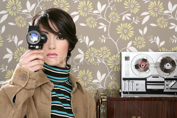 Multimedya sinema 8mm kadın müzik bant Stok fotoğraf © lunamarina